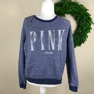 VS PINK | Heathered Blue Pullover Sweatshirt Small